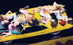 Louis Vuitton spring 2008 all supermodels with names including Naomi Campbell, Angela Lindvall, Claudia Schiffer, Stephanie Seymour, Natalia Vodianova and Eva Herzigova for its spring 2008 campaign. The women all posed on cars for Mert & Marcus.