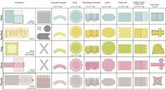 Party Planning Sheet Cricut Explore Sneak -anna's Blog