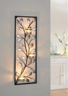 metall wand deko baum 67cm wanddeko f r wohnzimmer moderne bilder und formen aus metall und. Black Bedroom Furniture Sets. Home Design Ideas