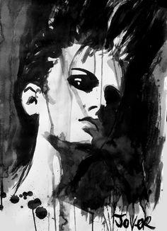 Saatchi Online Artist Loui Jover; Drawing, lucretia #art