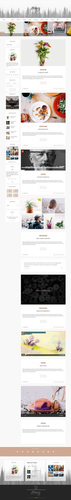 Memory is and elegant, smoothly and responsive Bootstrap HTML #template for #blog as well as #shop website. Download Now!