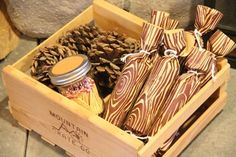 Fire Starter gift...make fire starters using toilet paper tubes, shredded paper, and gift wrap...put matches in a mason jar with sandpaper on the lid for striking...Love the match jar idea!