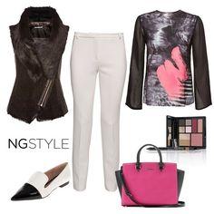 Siyah ve beyaz uyumuna pastel bir dokunuş...  #ngstyle #pastel #black #white #combination #fashion #trend #moda