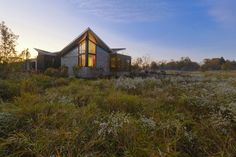 Architizer - Illinois Residence on the prairie, incorporates native grasses and perennials