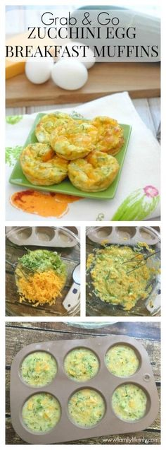 Grab and Go Zucchini Egg Breakfast Muffins - perfect for back to school season!