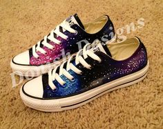 The only thing these are missing is the TARDIS flying by. Custom Painted Galaxy Converse Shoes by DonishDesigns on Etsy, $98.00