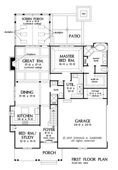 House Plan 1464 has