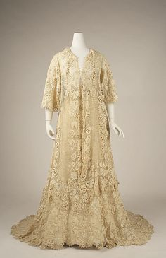 Afternoon Dress 1905, American, Made of cotton