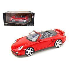 Porsche Carrera 911 997 Turbo Cabriolet Red 1/24 Diecast Model Car by Motormax