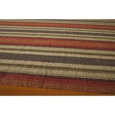 Fully reversible and versatile in styling, this menswear inspired rug is the perfect rug for casual living. Hand loomed of 100-percent wool, these flat woven rugs feature eye catching stripes in neutral colors to create a statement in any room.