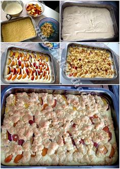 Käsekuchen με φρούτα Greek Desserts, Small Cake, Tray Bakes, Lemon, Sweets, Baking, Recipes, Fruit Cakes, Tarts