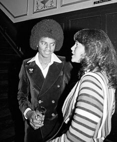 Michael Jackson at Studio 54, May 1977.
