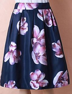 6a8cbbfe41   15.74  Women s Daily Knee Length Skirts A Line Polyester Winter Fall
