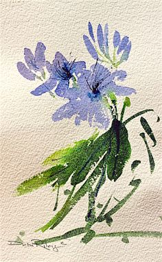 Easy Watercolor Flowers - My Pin Archive Simple Watercolor Flowers, Easy Watercolor, Floral Watercolor, Painting Flowers, Watercolor Border, Watercolor Paper, Garden Painting, Painting & Drawing, Watercolor Paintings