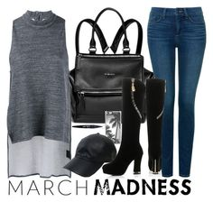 """""""March Madness : High Tops"""" by chintyar ❤ liked on Polyvore featuring Givenchy, NYDJ, 1205, Zero Gravity, Vianel, JY Shoes, Maybelline, black, grey and hightops"""