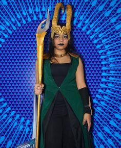 This Loki impersonator who's probably planning her next war against the Avengers. | 27 Cosplayers From Comic Con India Who Are Absolutely Nailing This...