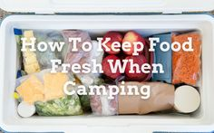 One question that people ask us regularly is how to keep food fresh when camping. It is not so much of a problem in cold climates, but if you are camping in a warm area, keeping food fresh can be challenging. Food Fresh, Camping, Cold, Warm, This Or That Questions, People, Campsite, People Illustration, Campers