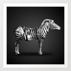 Zebra Art Print by Three of the Possessed - $17.68