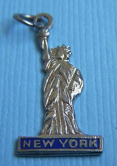 Statue of Liberty Charm Sterling Silver for Bracelet New York Harbor Freedom