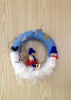 Winter Kranz ~ Filz ~ gefilzt ~ Jahreszeitentisch von Jana's kleine Filzwelt auf DaWanda.com