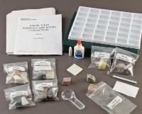 Know Your Minerals and Rocks Collection: Everything your students need to identify 33 unknown rocks and minerals is included in this collection. Step-by-step instructions lead students through the identification process. They test for hardness, cleavage/fracture, tenacity, streak, texture and grain size, and then form their own identification key.   Includes compartmentalized collection box, study guide, streak plate, magnifier and numbering set. All in  @wardsscience