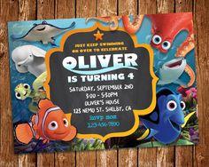 Finding Dory Invitation, Finding Dory Invite, Finding Nemo Invitation, Dory birthday, Nemo Party,Finding Dory Birthday Invitation, Dory by SunshiineStudio on Etsy https://www.etsy.com/listing/526002215/finding-dory-invitation-finding-dory