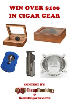 I just entered to win this awesome humidor combo deal.  You can enter too. #contest #humidor #cigars #cheaphumidors