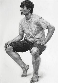 서리미술학원[인체소묘] Human Figure Sketches, Figure Drawing Models, Human Figure Drawing, Figure Sketching, Body Drawing, Life Drawing, Pencil Portrait, Portrait Art, Hyper Realistic Paintings