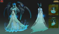 Ghost Bride Morgana by RiotZeronis - League of Legends character design.