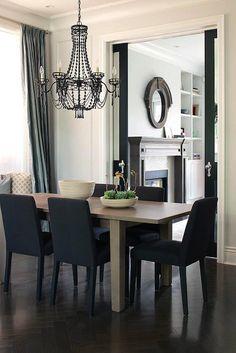 dark gray walls black furniture - Google Search | gray room ...
