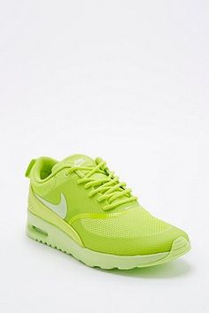 Nike Air Max Thea Trainers in Lime Green