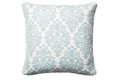 Capistrano 18x18 Cotton Pillow, Blue on OneKingsLane.com