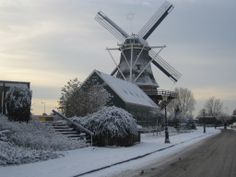 Sloten Windmill in the SNOW !