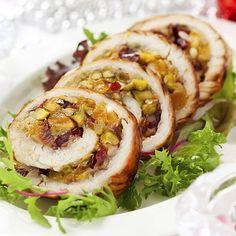 Pechugas de pavo rellenas con verdura, receta light #recetas con pollo light