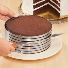 KALREDE Cake Mold Cake Ring -Moule Gateau - Heavy Duty Baking Mousse Mold Round Adjustable Stainless Steel Layer Cake Slicer for Cake, Breads Inch to Inch) Cooking Gadgets, Kitchen Gadgets, Kitchen Tools, Cake Slicer, Cake Cutters, Cake Decorating Tools, Small Cake, Breakfast Cake, Round Cakes