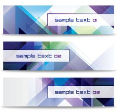 Abstract Diagonal Banners Vector Template