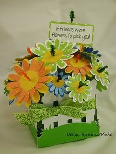 Not a card but I love it!  Uses Cricut paper flowers.