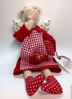 Куклы Тильды ручной работы. Ярмарка Мастеров - ручная работа. Купить Сонный ангел.. Handmade. Ярко-красный, хендмейд