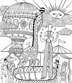 Circus Printables   Circus & Clowns color page - Coloring pages for ...