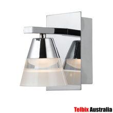 Heston Chrome LED Wall Spotlight