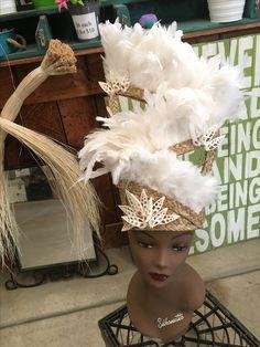 Kiki Raina Angel Extra Tall headpiece made by Auntie Mel at californiahulacenter.com