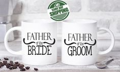 wedding gifts for parents, wedding gift parents, wedding parent gift, parent wedding gift, parents of the bride gift, gifts for parents  This cute design will be printed on best quality Grade A fully white Mugs or Mugs with black handle. If you prefer, we can print design on one side and special message on the other side. Kindly specify in order notes. We use dye sublimation and heat transfer technique to print the design on the mugs. This ensures that the design and the words will look…