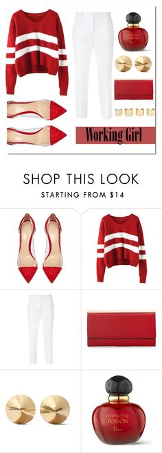 """""""Working Girl"""" by brooklynbeauty18 ❤ liked on Polyvore featuring Gianvito Rossi, Dolce&Gabbana, Luv Aj, Eddie Borgo, Christian Dior, women's clothing, women, female, woman and misses"""