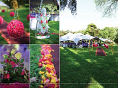 outdoor wedding touches