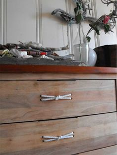 rope drawer pulls - boys room