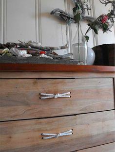 rope drawer pulls - boys room