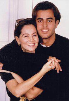 Enrique and his mother Isabel Preysler