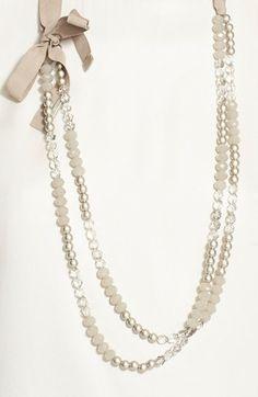 Fabiana Filippi Crystal Bead & Glass Pearl Necklace | Nordstrom