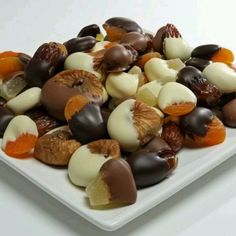 Chocolate covered dried fruit!