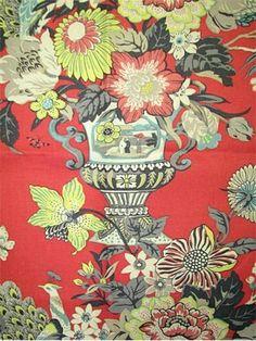 Portobello Vase Ladybug--Waverly Williamsburg Collection (stunning in real life)